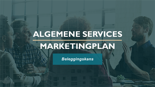 Professioneel marketingplan voor services