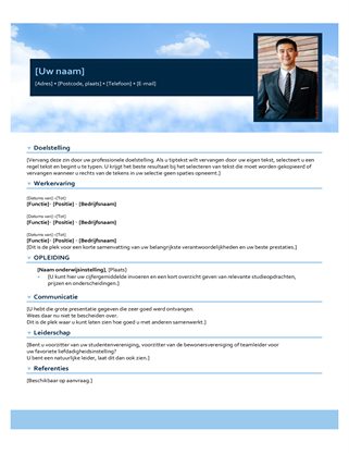 CV met blauwe lucht