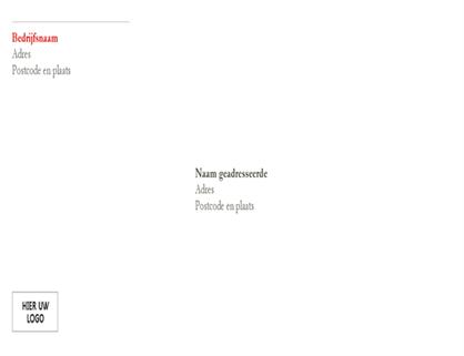 Envelop (ontwerp Rood)