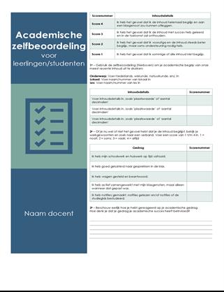 Academische zelfbeoordeling voor leerlingen/studenten