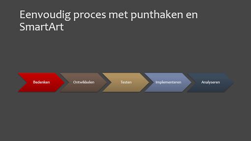 Dia met procesdiagram (punthaak, breedbeeld)