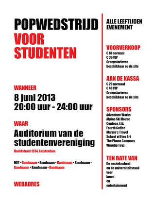 Studentenfolder (rood en zwart)