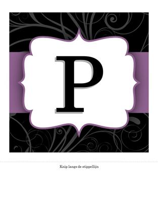 Fijne trouwdag (spandoek met paars lint)