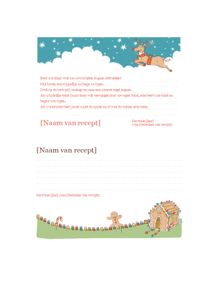 Kerstkaarten met recepten