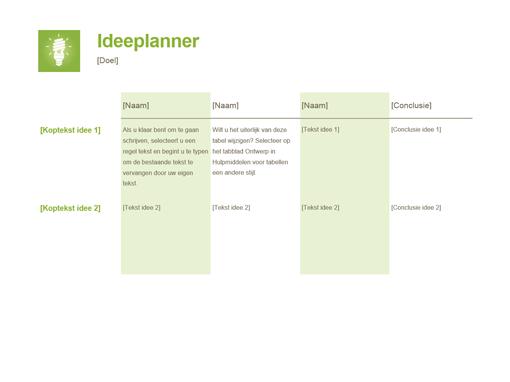 Ideeplanner