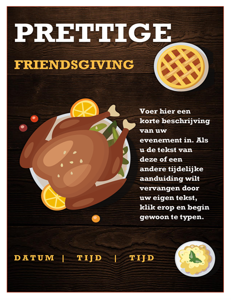 Folder voor Friendsgiving