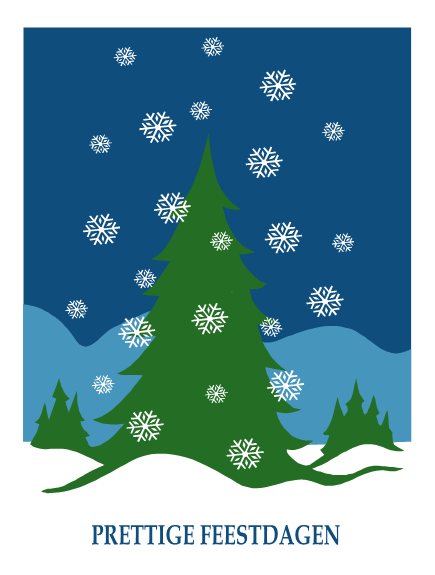 Kerstwensen van bedrijf (met sneeuwlandschap)