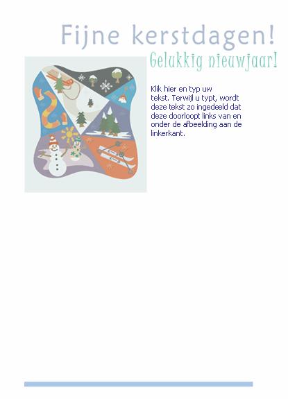 Briefpapier (met wintersporttafereel)
