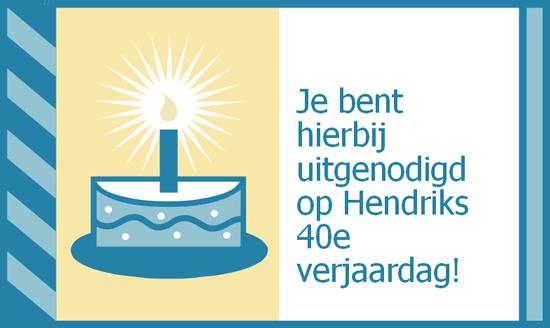 Uitnodiging voor verjaardagsfeestje (vouwkaart; geen envelop nodig)