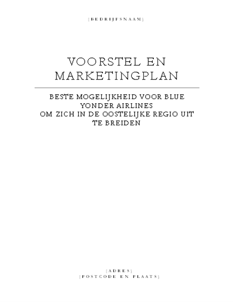 Bedrijfsrapport (elegant thema)