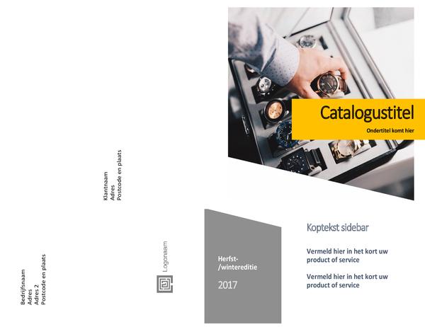 Product catalogus (Formulierontwerp, half gevouwen, 8 pagina's)