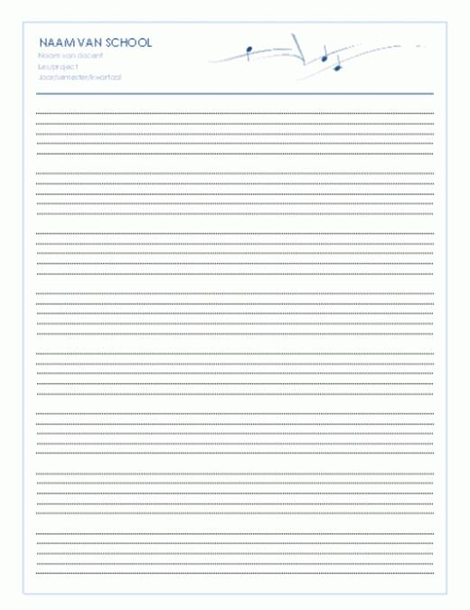 Algemeen papier voor medewerkers (staand, 8/pagina)