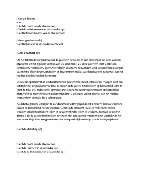 Brief (ontwerp Executive)