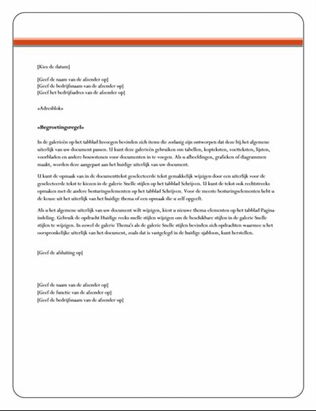 Samenvoegbrief (thema Equity)