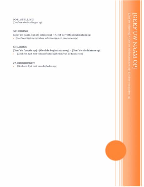 Curriculum vitae (thema Oriel)