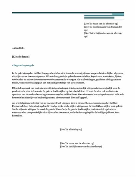 Samenvoegbrief (thema Urban)