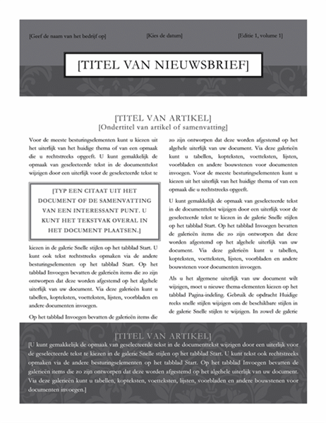 Nieuwsbrief (ontwerp Formeel)