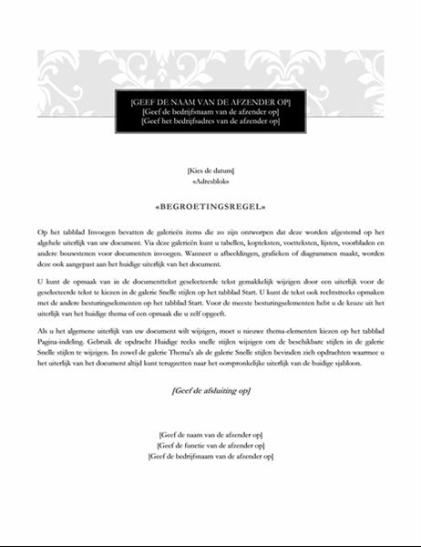 Samenvoegbrief (ontwerp Formeel)