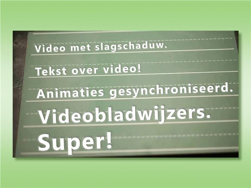 Tekst over video