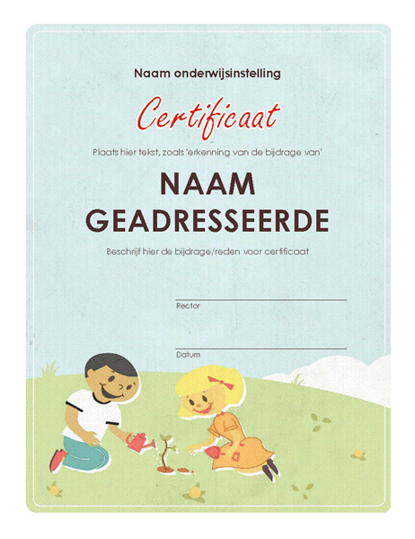 Certificaat basisschool