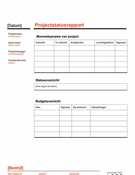 Projectstatus (rood)