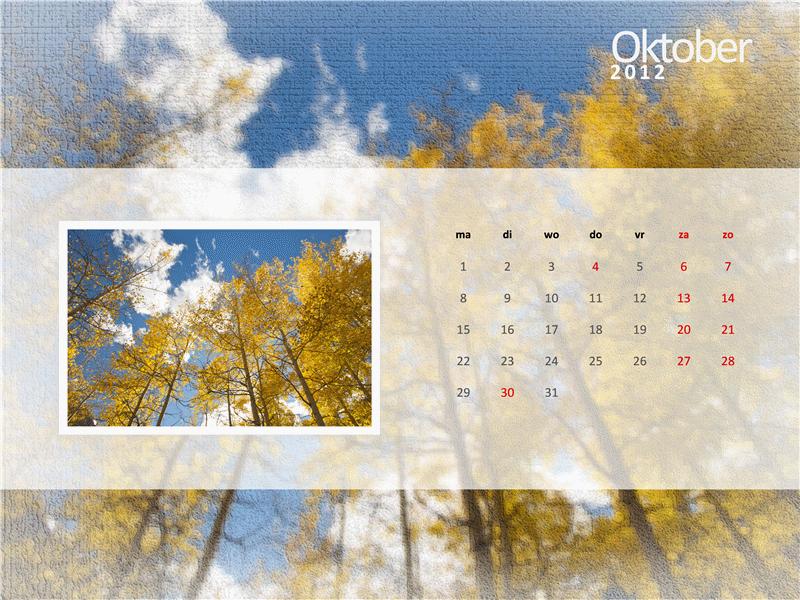 Fotokalender voor 2012 - vierde kwartaal
