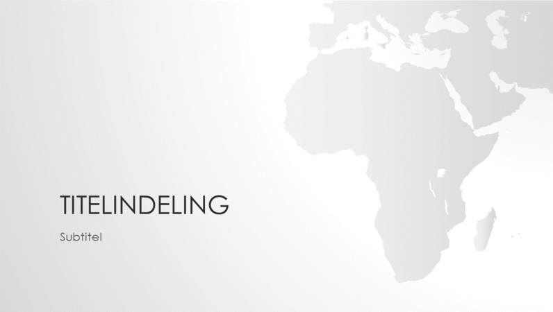 Wereldkaartserie, presentatie van Afrikaans continent (breedbeeld)