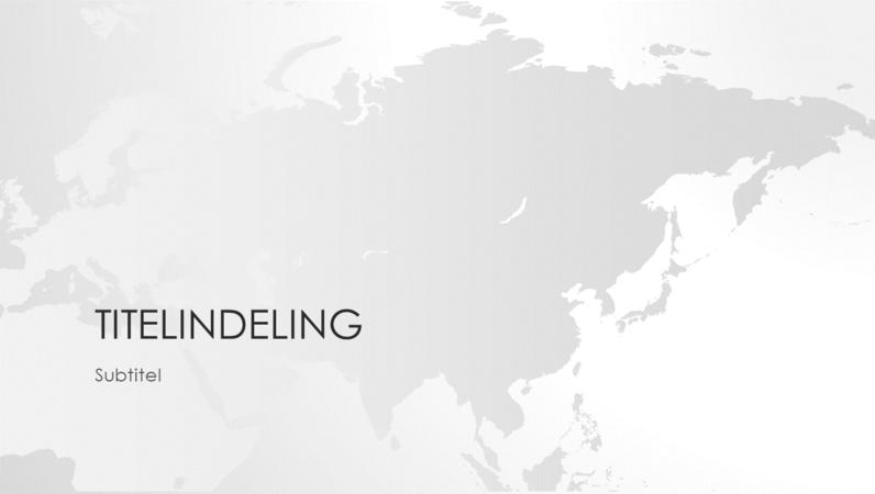 Wereldkaartserie, presentatie van Aziatisch continent (breedbeeld)