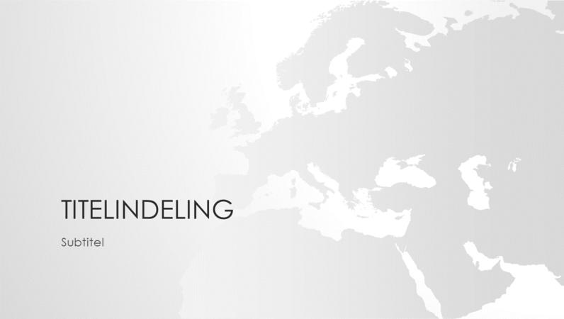 Wereldkaartserie, presentatie van Europees continent (breedbeeld)