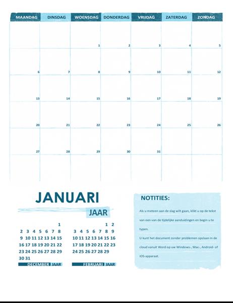 Academische kalender M-Z (willekeurig jaar)