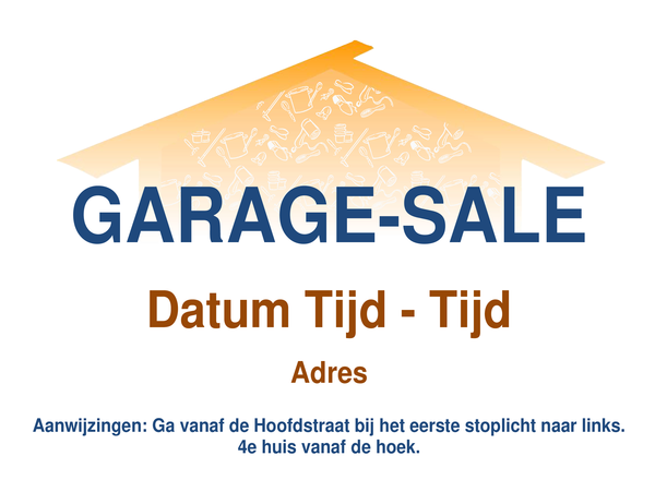 Folder voor garage-sale