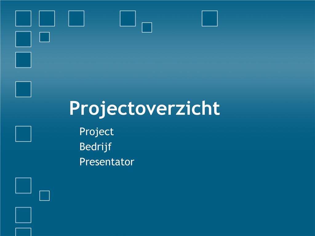 Projectoverzicht