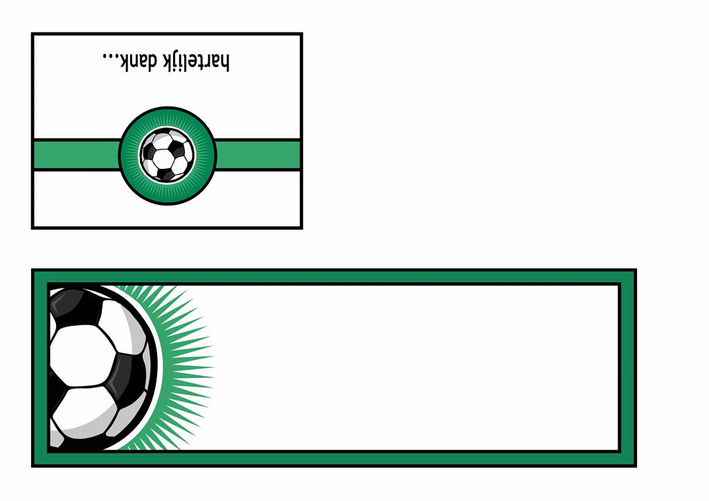 Bedankkaart (met voetbal)