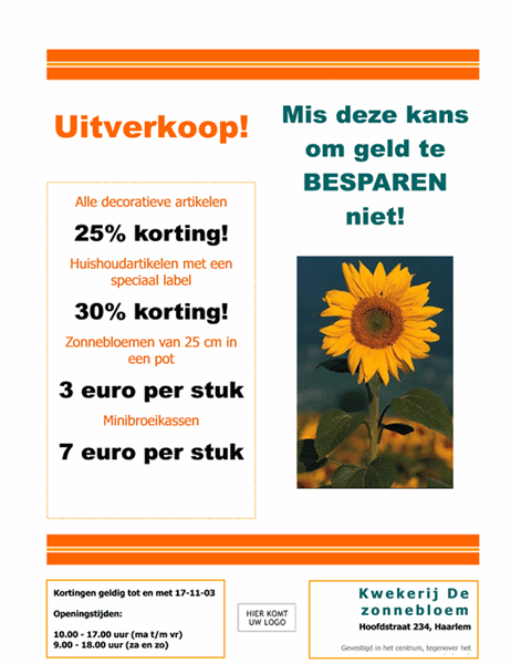Folder voor tuincentrum en kwekerij