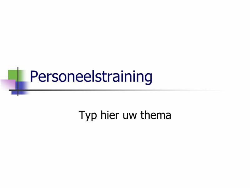 Presentatie over personeelstraining