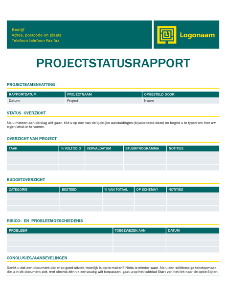Projectstatusrapport