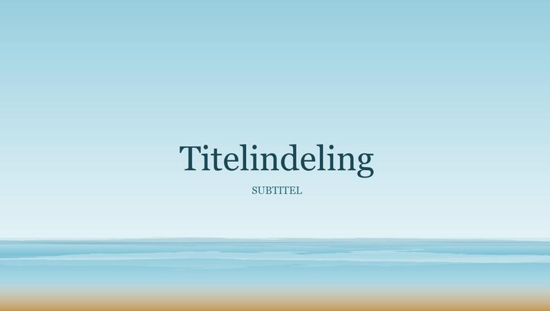 Presentatie van schilderij met zee (breedbeeld)