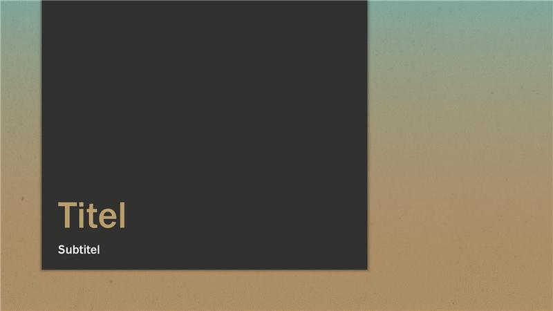Presentatie met blauw-geelbruine kleurovergang (breedbeeld)