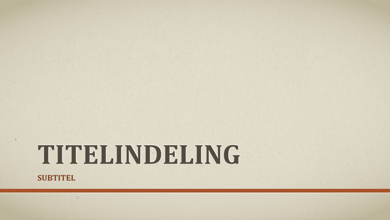 Zakelijke presentatie met rode lijn (breedbeeld)