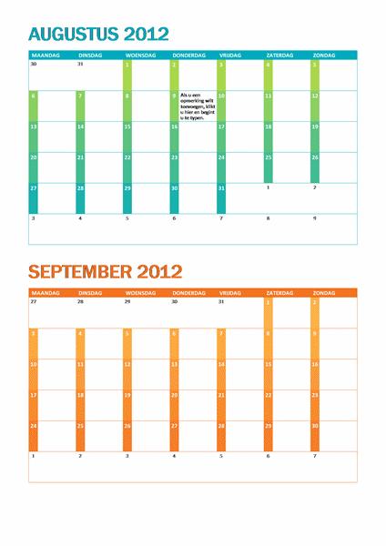 Academische kalender (ma-zo)