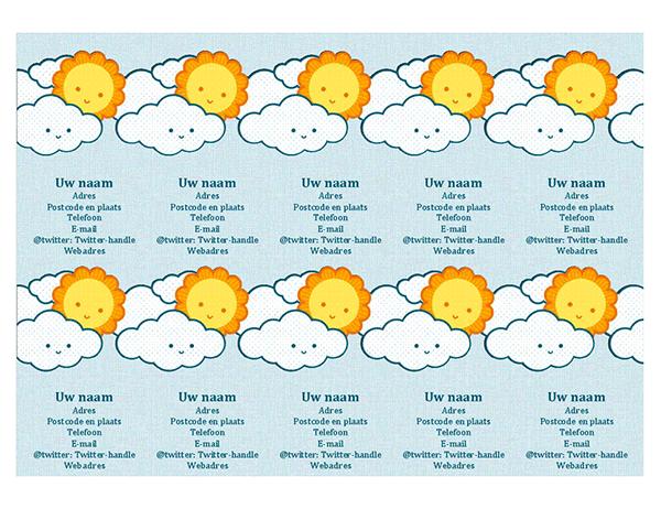 Persoonlijke visitekaartjes (10 per pagina)