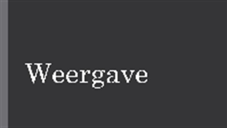 Weergave