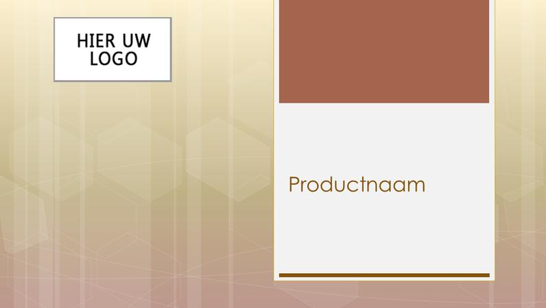 Presentatie overzicht bedrijfsproducten