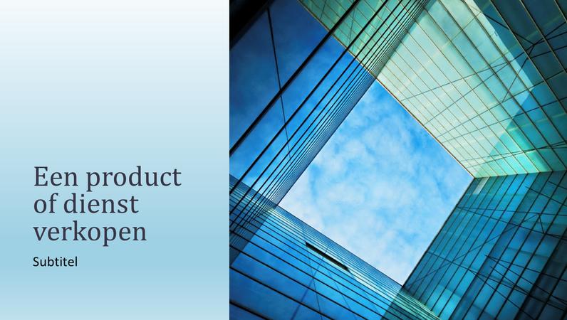 Zakelijke verkooppresentatie over product of dienst