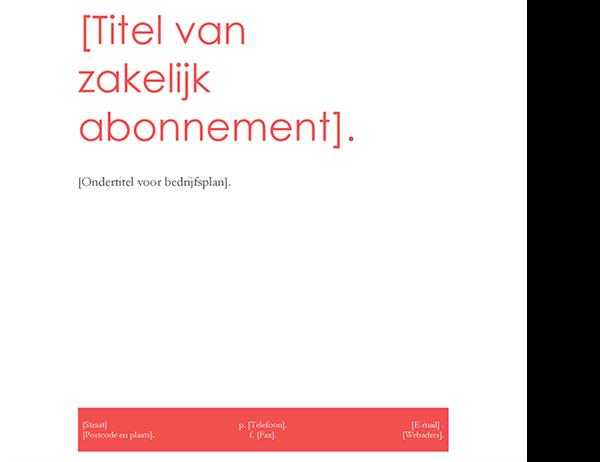 Bedrijfsplan (rood ontwerp)
