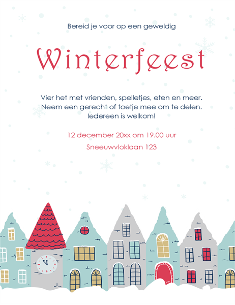 Flyer voor winterfeest
