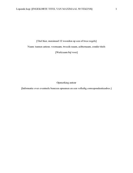 APA-stijlrapport (6e editie)