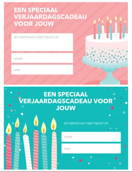 Cadeaubon voor verjaardag (Helder ontwerp)