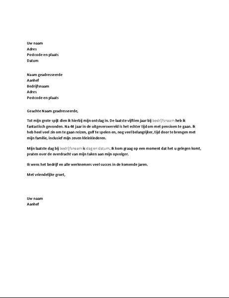 ontslagbrief maken