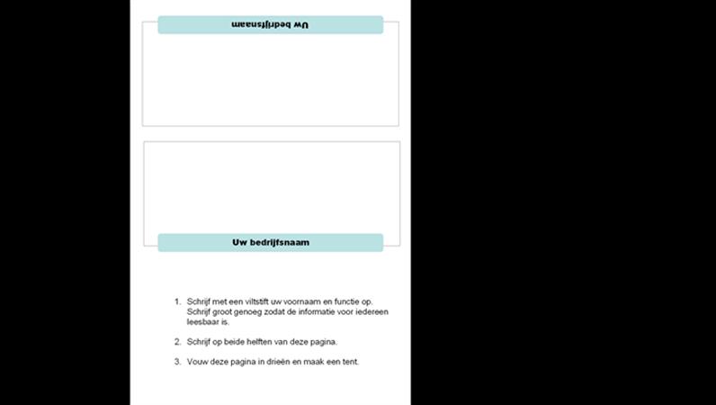 Naamkaartjes voor vergadering (3 katernen)